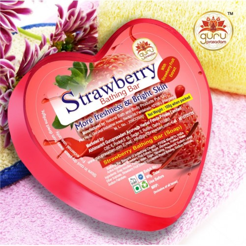 Strawberry Bathing Bar