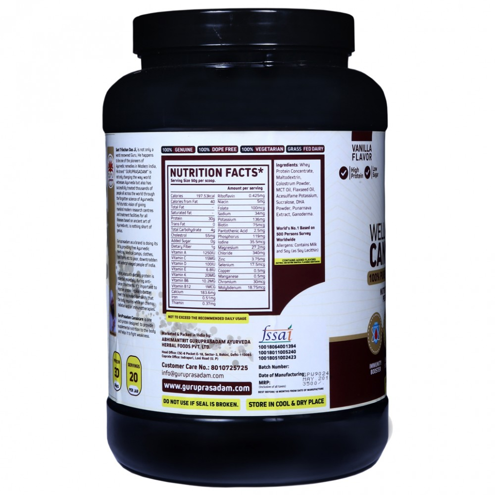 Wellness Whey Canso Care Protein Vanilla Flavor