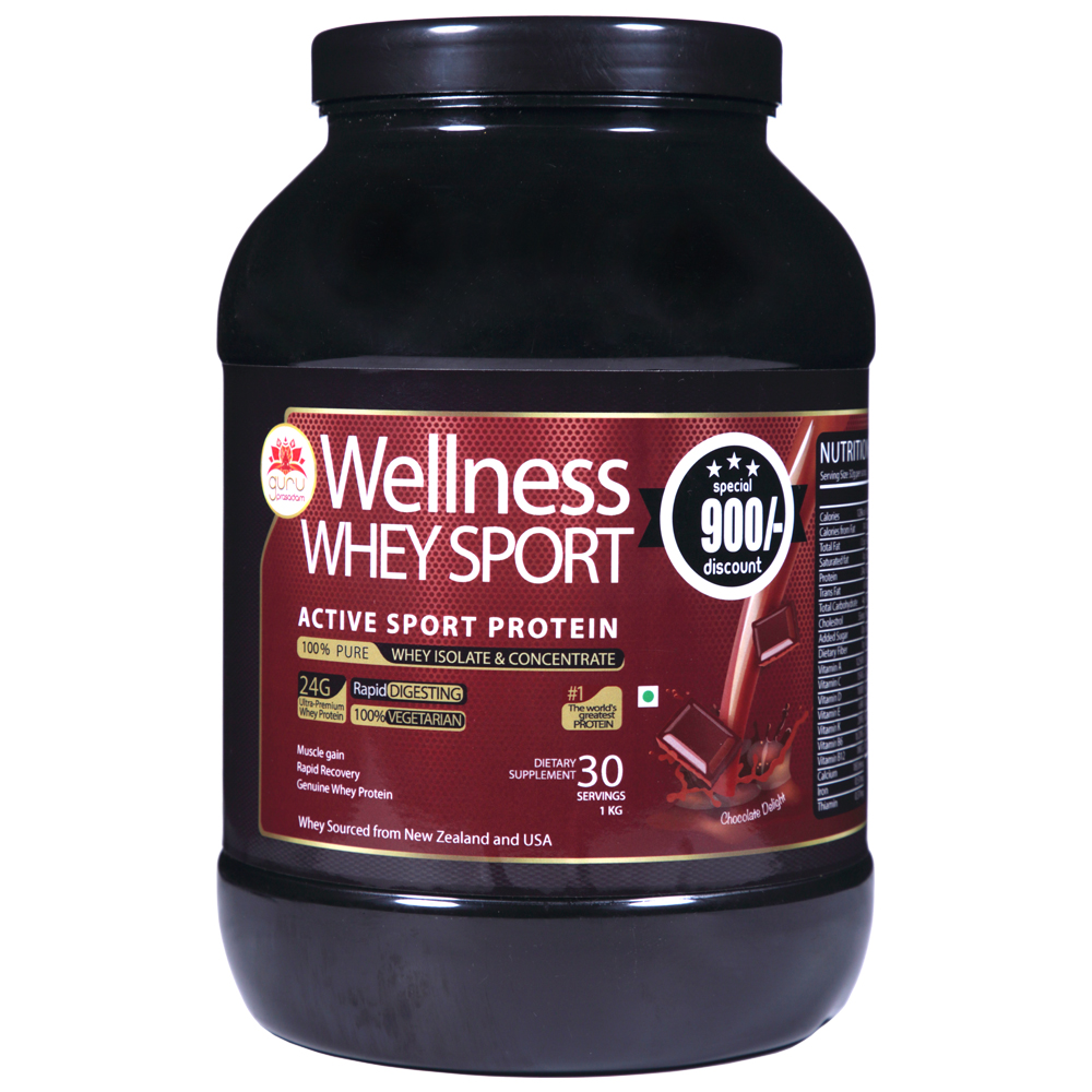Wellness Whey Sports Protein Chocolate Flavor