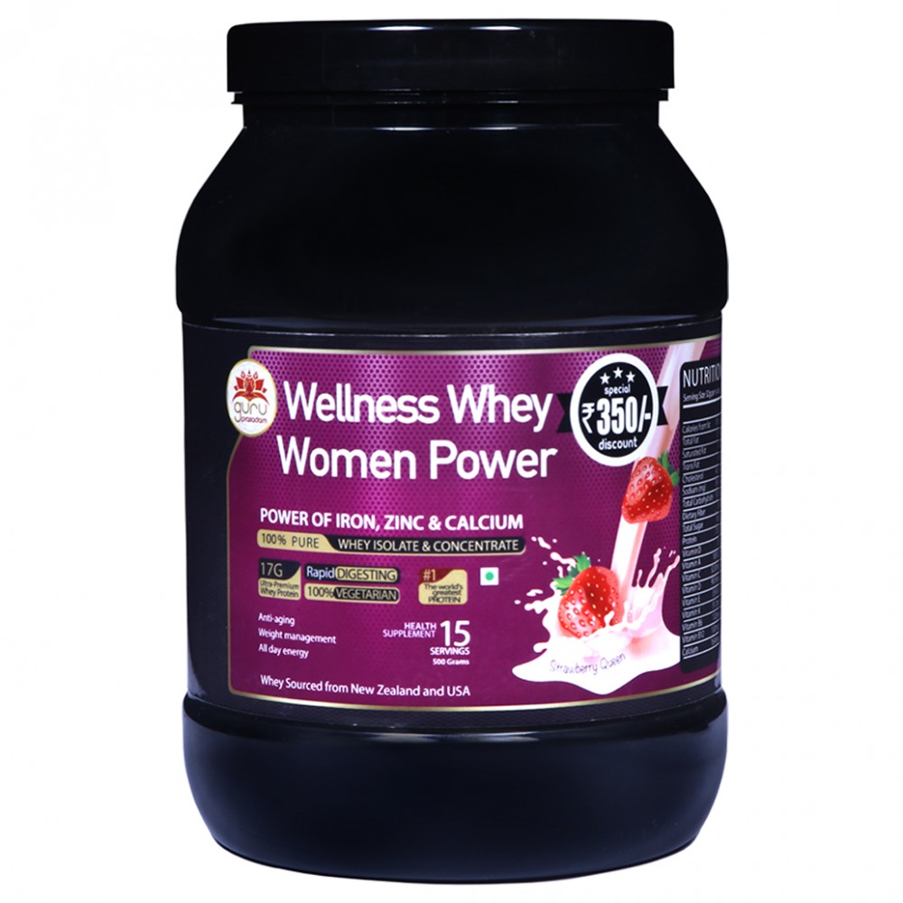 Wellness Whey Women Power Strawberry Flavor
