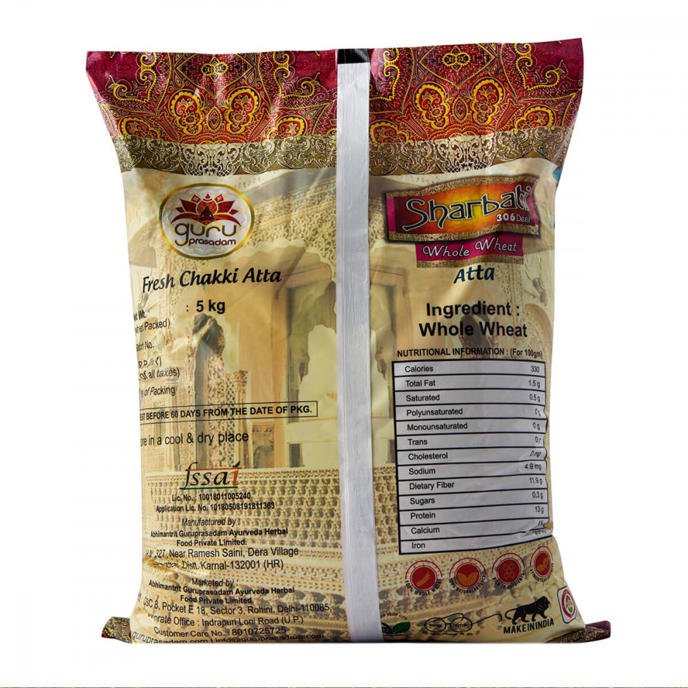 Sharbati 306 Desi Whole Wheat Atta
